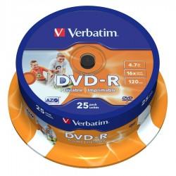 CAMPANA 25 DVD-R STAMPABILI Verbatim