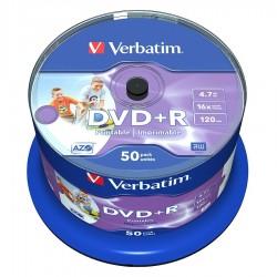 CAMPANA 50 DVD+R STAMPABILI Verbatim