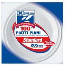100 PIATTI PIANI  205mm Dopla Professional