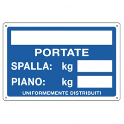 CARTELLO ALLUMINIO 30x20cm