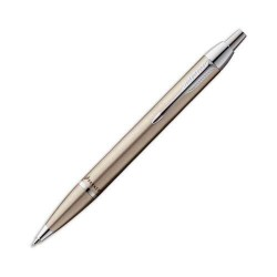 PENNA A SFERA PARKER IM  BRUSHED METAL FIN. ORO