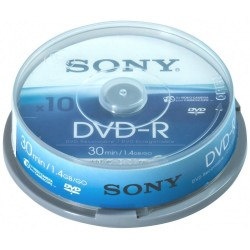 SPINDLE 10 DVD-R SONY 1.4 GB 30 MINUTI