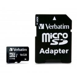 MICRO SDHC Verbatim CLASS 10 Premium 16GB + ADATTATORE