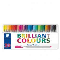 TRIPLUS FINELINER BRILLIANT COLOURS PUNTA 0.3MM ASTUCCIO DA 30 COLORI STAEDTLER