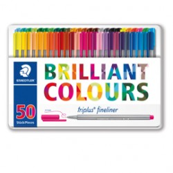 TRIPLUS FINELINER BRILLIANT COLOURS PUNTA 0.3MM ASTUCCIO DA 50 COLORI STAEDTLER