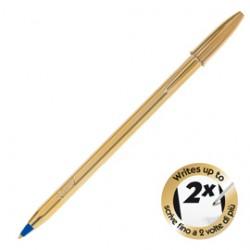 SCATOLA 20 PENNE SFERA CRISTAL SHINE GOLD PUNTA 1.0MM ORO BIC