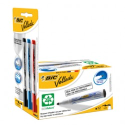 PROMO BOX 12pz NERO Whiteboard VELLEDA+3 ink pocket (N/B/R)