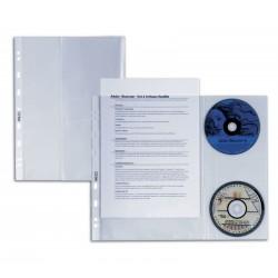 CONFEZIONE 10 BUSTE PORTA CD-DVD ATLA DISCO DUE sei