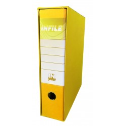 REGISTRATORE INFILE F.TO PROTOCOLLO DORSO 8 GIALLO