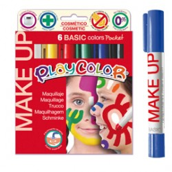 MAKE UP TEMPERA SOLIDA PLAYCOLOR ASTUCCIO CON 6 COLORI BRILLANTI