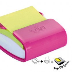 DISPENSER PRO fucsia +1 Post-itSuper Sticky Z-Notes verde asparago 76x76mm