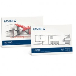 ALBUM FAVINI 4 24X33CM 220GR 20FG RUVIDO - Conf da 5 pz.