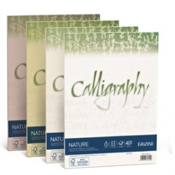 CARTA CALLIGRAPHY NATURE 250GR A4 50FG OLIVA
