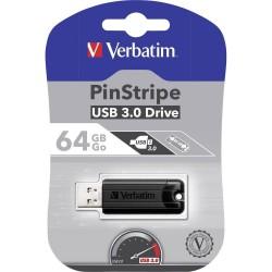 CHIAVETTA USB 3.0 64 GB  Verbatim PinStripe