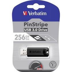 CHIAVETTA USB 3.0 256 GB Verbatim PinStripe