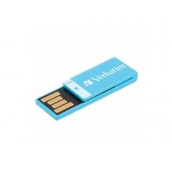 CHIAVETTA USB 2.0 16 GB  AZZURRA Verbatim Clip-it