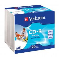 SLIM 20 CD-R STAMPABILI Verbatim