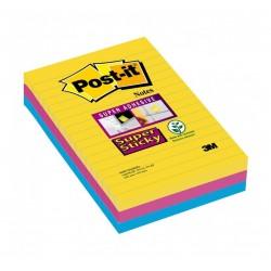 BL.3 Post-it Super Sticky Notes XL 4690 RIO A RIGHE 3M