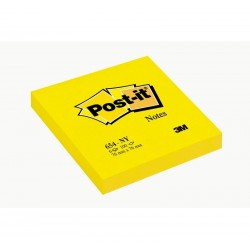 CF.6 BLOCCO Post-it Notes 654-NY Neon GIALLO 3M