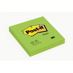 CF.6 BLOCCO Post-it Notes 654-NG Neon VERDE 3M