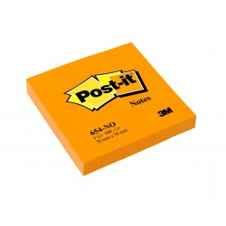 CF.6 BLOCCO Post-it Notes 654-NO Neon ARANCIO 3M