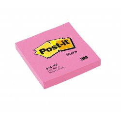 CF.6 BLOCCO Post-it Notes 654-NP Neon ROSA 3M