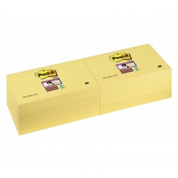 BL.12 Post-it Notes Super Sticky 655 Canary 3M