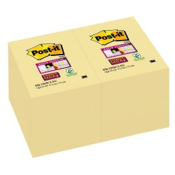 BL.12 Post-it Notes Super Sticky 656 Canary 3M
