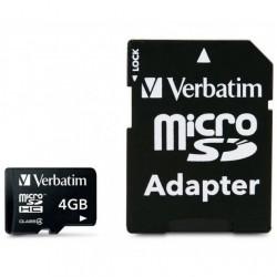 SCHEDA MEMORIA MICRO SD HC 4GB C/ADATT. VERBA