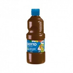 FLACONE 500ML TEMPERA    ACRILICA MARRONE