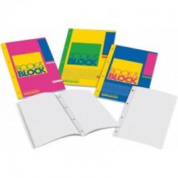 10030BLOCCO BOOK & BLOCK A4 RIGHE 4 FORI (QUABLOK)