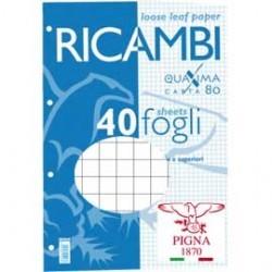 RICAMBI FORATI A5 1RIGO 80GR QUAXIMA 40FG 80GR PIGNA