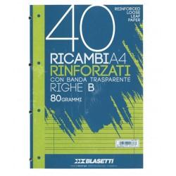 RICAMBIO ANTISTRAPPO      A4 15 FG. BIANCO GR.100