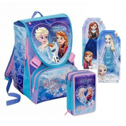 SCHOOL PACK ZAINO+ASTUCCIO FROZEN SWEET HEART