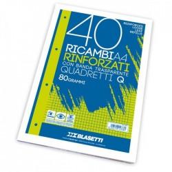 RICAMBI FORATI RINFORZATI A4 4MM 40FG 80GR PIGNARIC