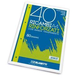 RICAMBI FORATI RINFORZATI A4 RIGO DI 1 40FG 80GR PIGNARIC