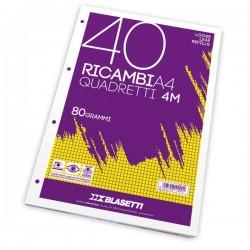 RICAMBI FORATI A4 4MM QUAXIMA 40FG 80GR PIGNA