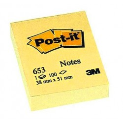 BLOCCHETTO Post-it Notes 653 Canary 3M