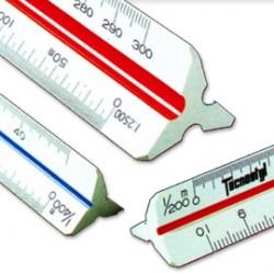 Scalimetro 98U 30cm (Scale 11-2-5-20-50-100-200-500-1000-1250-2500) Tecnostyl