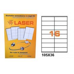 23219 ETICHETTE LASER    IN LINEA 105X36 FG.100