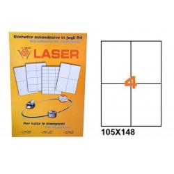 23222 ETICHETTE LASER    105X148 FG.100