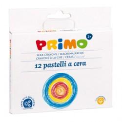 ASTUCCIO 12 PASTELLI A CERA JUMBO 10,5mm 100mm PRIMO