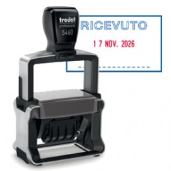 TIMBRO DATARIO + RICEVUTO 5460/PR4/L1 AUTOINCHIOSTRANTE Professional TRODAT