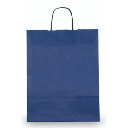 SHOPPER CARTA TWISTED 22X10X29CM BLU
