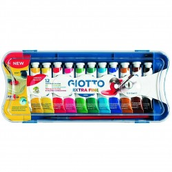 CF.12 TUBETTI TEMPERA    GIOTTO EXTRA 304100 12ml