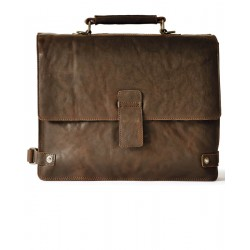 BRIEFCASE C/TRACOLLA 2 SCOMPARTI 39X31X14 IN PELLE