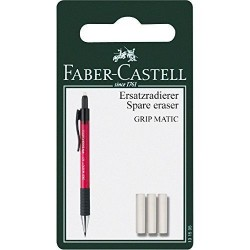 BLISTER 3 GOMME RICAMBIO GRIP MATIC FABERCASTELL
