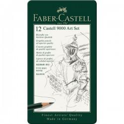 SET CASTELL 9000 ART     12 MATITE GRAFITE 8B-2H