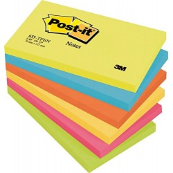 BLOCCO POST-IT NOTES 655 -TFEN COLORI ASSORTITI